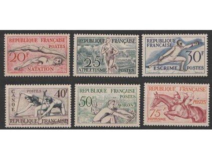 1953, 20-75 Fr série Sport, MiNr.978-83, **