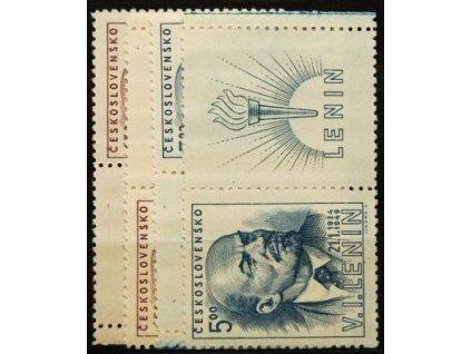 1948, 1.50-5Kčs V.I.Lenin, Nr.498-99, KL+KP, **