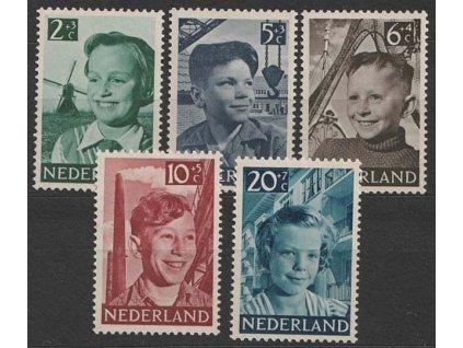 1951, 2-20 C série Děti, MiNr.575-79, **