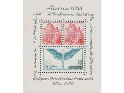 1938, aršík Aarau 1938, MiNr.Bl.4, **