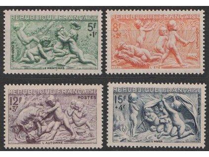 1949, 5-15 Fr série, MiNr.877-80, **
