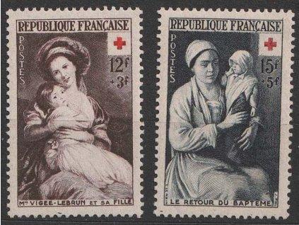 1953, 12-15 Fr série Červený kříž, MiNr.984-85, **