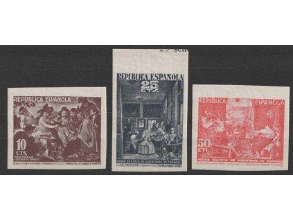 1938, 10, 25 a 50 CTS nezoubkované, lokální vydání, **/*