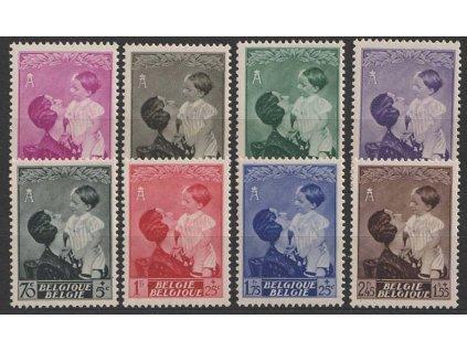 1937, 10 C - 2.45 Fr série královna Astrid, MiNr.443-50, **