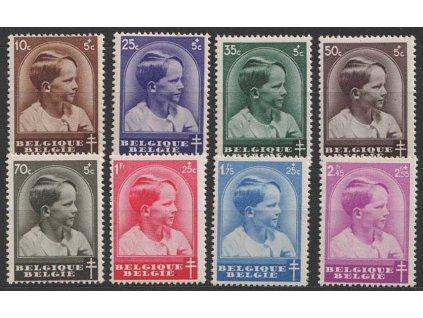 1936, 10 C-2.45 Fr série Tuberkulóza, MiNr.434-41, **