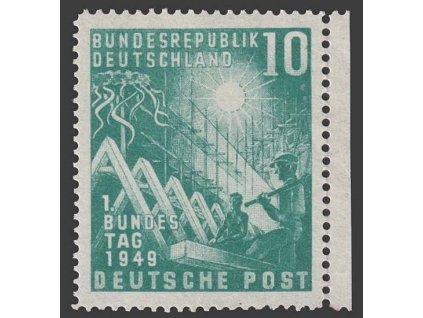 1949, 10 Pf Richtfest, MiNr.111, **