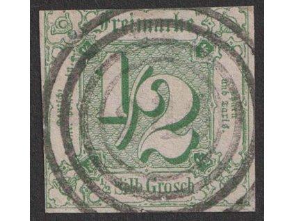 Thurn a Taxis, 1859, 1/2 Sgr zelená, MiNr.14, razítkované