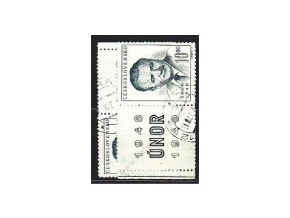 1949, 10Kčs Gottwald, L+P kupon, Nr.501, razítk.