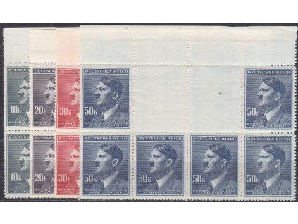 1942, 10-50K Hitler, vodorovné horní podkovy, VK-7, Nr.96-9, **