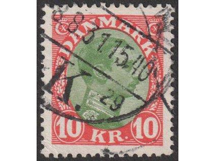 1927, 10 Kr Christian, MiNr.176, razítkované