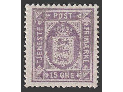 1914, 15 Q služební, MiNr.18, * po nálepce