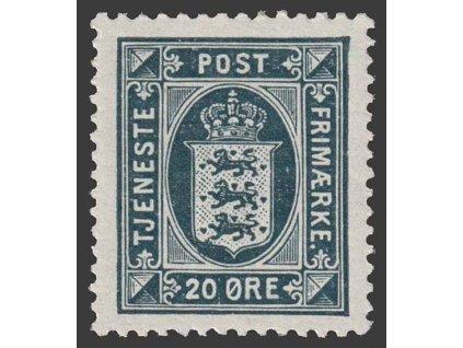 1914, 20 Q služební, MiNr.19, * po nálepce