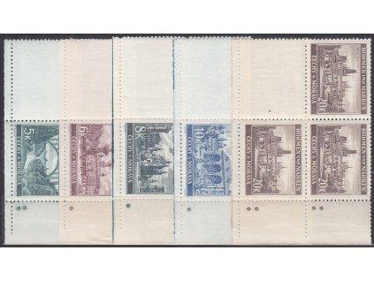 1940, 5-20K Krajinky, pravé dolní roh. 4bloky - varianta hvězdička, Nr.45-9, **