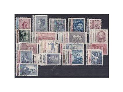 1951, kompletní ročník výplatních známek, razítkované, ilustrační foto