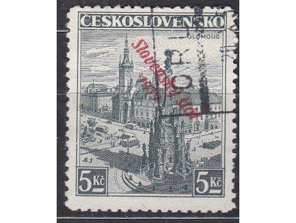 5Kč Olomouc, Nr.21, razítkované
