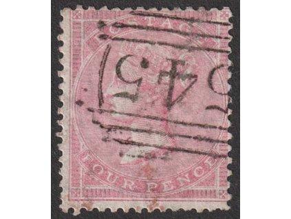 1855, 4 P Viktoria, MiNr.13Z, razítkované, dv