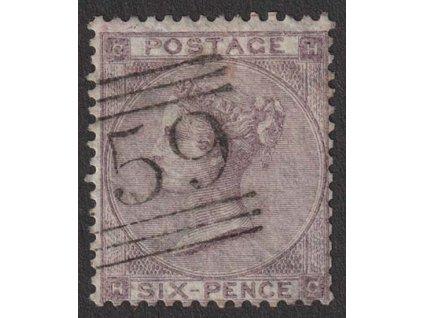 1862, 6 P Viktoria, MiNr.20, razítkované