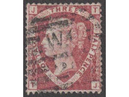 1870, 3/2 P Viktoria, MiNr.37, razítkované