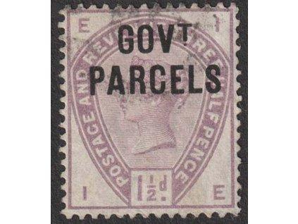 1883, 1 1/2 P Viktoria, Govt Parcels, MiNr.22, razítkované