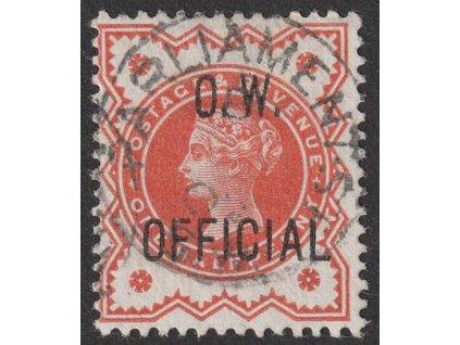 1896, 1/2 P Viktoraía, O.W. OFFICIAL, MiNr.64, razítkované