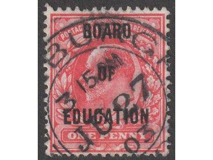 1902, 1 P Eduard, Board of Education, MiNr.18, razítkované