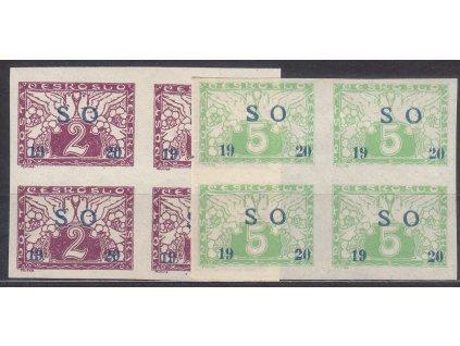 2-5h Spěšné, série, 4bloky, Nr.SO26-7, **, ilustrační foto
