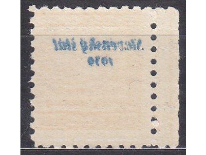 1939, 20h Znak s plným obtiskem, kraj. kus, Nr.4, **