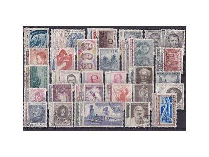 1953, kompletní ročník výplatních známek, razítkované, ilustrační foto