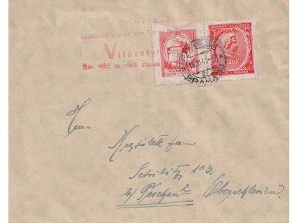 1941, DR Praha, dopis, stopy pošt. provozu