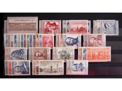 1954, kompletní ročník výplatních známek, ** , ilustrační foto