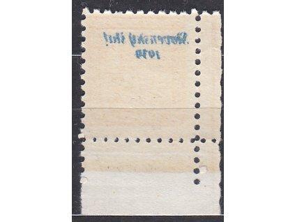 1939, 20h Znak, roh. kus s DČ 4 s plným obtiskem, Nr.4, **