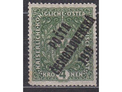 4K Znak, tmavě zelená, II.typ, Nr.50, * po nálepce, narezlý roh