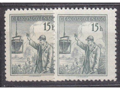 1954, 15h Povolání, 2 ks - odstíny barev, Nr.775, **