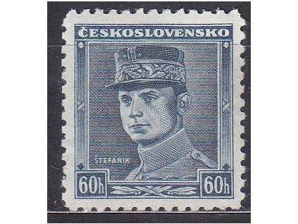 60h modrý Štefanik, zk.Gilbert, Nr.0351, * po nálepce