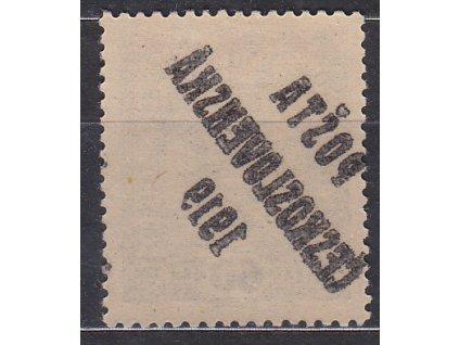 60h Znak, II.typ, plný obtisk, Nr.44, * po nálepce