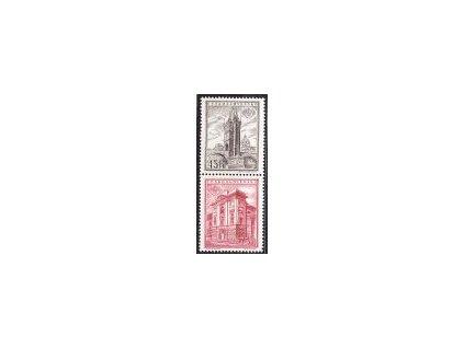 1955, soutisk zn. 45 a 75h z aršíku PRAGA 1955, **