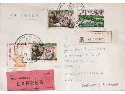 Mosambig, 1982, DR Maputo, R-Ex dopis zasl. do ČSSR, hezké