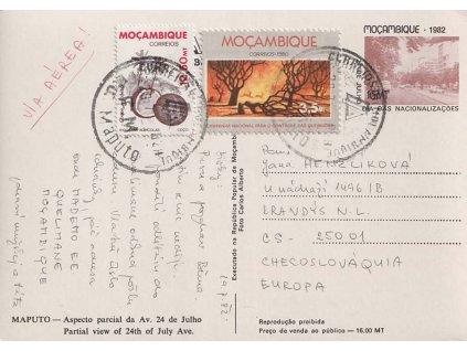 Mosambig, 1982, DR Maputo, celinová pohlednice, hezké