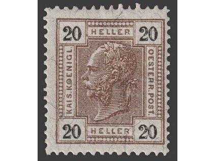 1905, 20 H Franc Josef, MiNr.125, těžší *