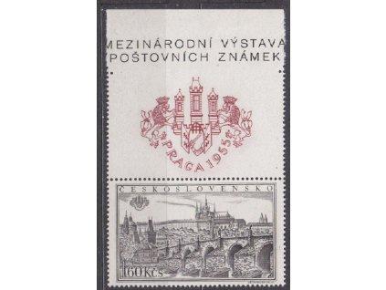 1.60Kčs PRAGA 1955, horní okraj z aršíku, Nr.857A