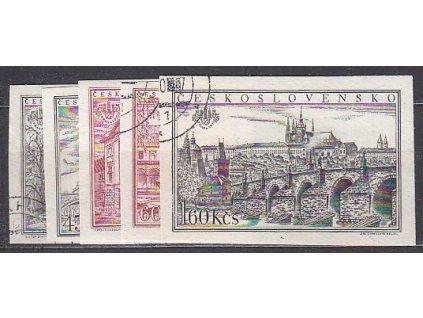 1955, 30h-1.60Kčs PRAGA, série, nezoubkované, Nr.853-7B, razítkované, ilustrační foto