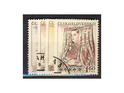 1956, 30h-1.60Kčs série Kroje, Nr.913-16, razítkované, iluistrační foto