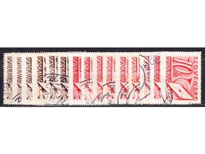 1942, 10h-10Ks Doplatní série, Nr.DL24-38, razítkované, ilustrační foto