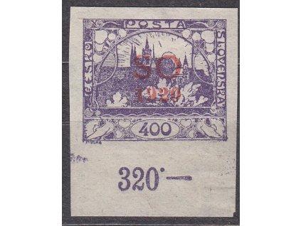 400h fialová, kraj. kus s počitadlem, Nr.SO21, * po nálepce
