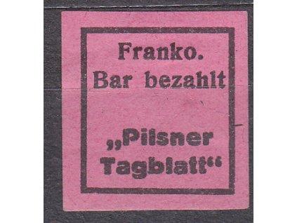 Pilsner Tagblatt, PLZEŇ, Nr.NN19a, * po nálepce
