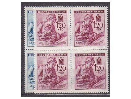 1942, 60h-1.20K ČK III, série, 4bloky, Nr.100-101