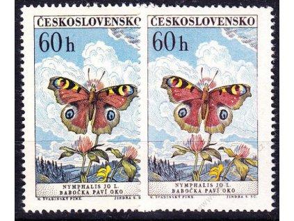 1961, 60h Motýli, 2 ks - odstíny barey, Nr.1221a,b, **