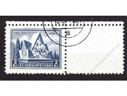 2Kč Arras, pravý horní kupon, Nr.290, razítkované