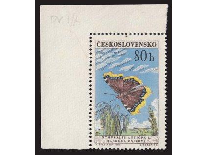 1961, 80h Motýli, DV - čára pod tykadlem, Nr.1222DV1/A, **