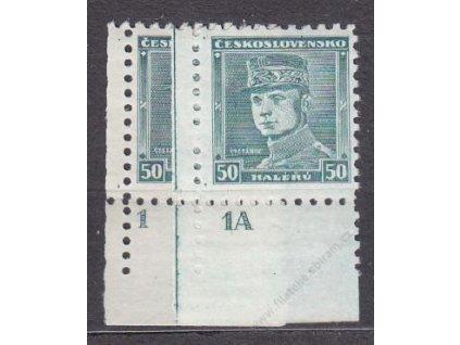 50h Štefanik, roh. kusy s DČ 1,1A, Nr.291, **